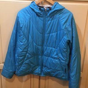 Columbia titanium puffer jacket blue Interchange L